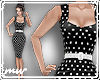 !Polka dot dress black