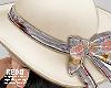 Flowery summer hat