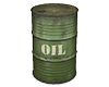 Old Military Oil Drum
