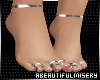Natural Silv Toe rings