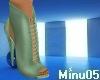 green elegant heels