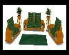 Green Deer Sofa set