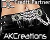(AK)Chain belt onyx