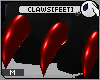 ~DC) Claws[feet] Red M