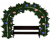 Floral Arbor & Bench