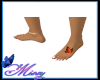 Butterfly foot tattoo
