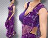 !Saree Plum purple