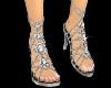 Silver N Diamond Shoes
