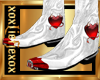 [L] BADBOY White Boots M