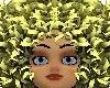 yellow animated hair