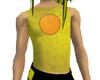 Yellow  Mesh Top