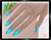 {D} Turquoise Nails