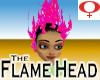 Flame Head -Fem Hot Pink