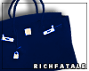 RF | Leather Tote-Navy