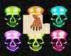 Bright Skull Nails