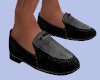 [B] Menz Black Loafers