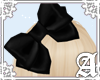 Satin Bow~ Black