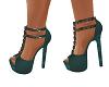 zapato sexy verde