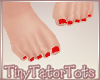 T. Kids Feet Red Nails