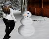 Winter build a snowman