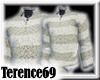 69 Sweater Stripe-White