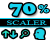 70% Scaler Head Resizer