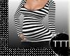 Maternity Black Wht LS
