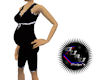 Pregnant Black body suit