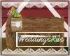 Wedding barn bench