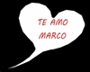 TE AMO MARCO HEAD SIGN