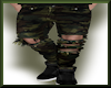 Ripped camo jeans Green
