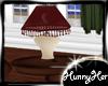 Rustic Red Lamp N Table