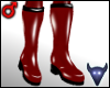 PVC boots red (m)