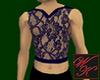 {WK}sexy plum lace tank