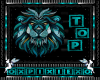 teal lion top