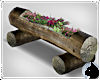!Log Planter - flowers
