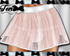Nude Color Sheer Skirt