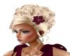 Hair Blond Burgandy Rose