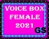 GS VOICE BOX F & M 2021