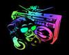 Framed Neon DJMonkey Pic
