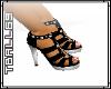 Black Heels Toe nails
