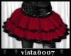 [V7] Red Tulle Skirt