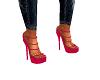 Fuscha Pink Strappy Heel