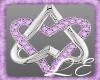 Purple Diamond Heart