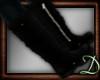 [D] Black Flat Boots