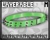 Lyr Spike Belt Green .m.