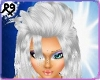 Long Silver Model Hair
