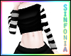 Black White Crop Top
