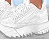 f. white chunky kicks