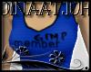 """""""GIMP member"""" Top Blue"""